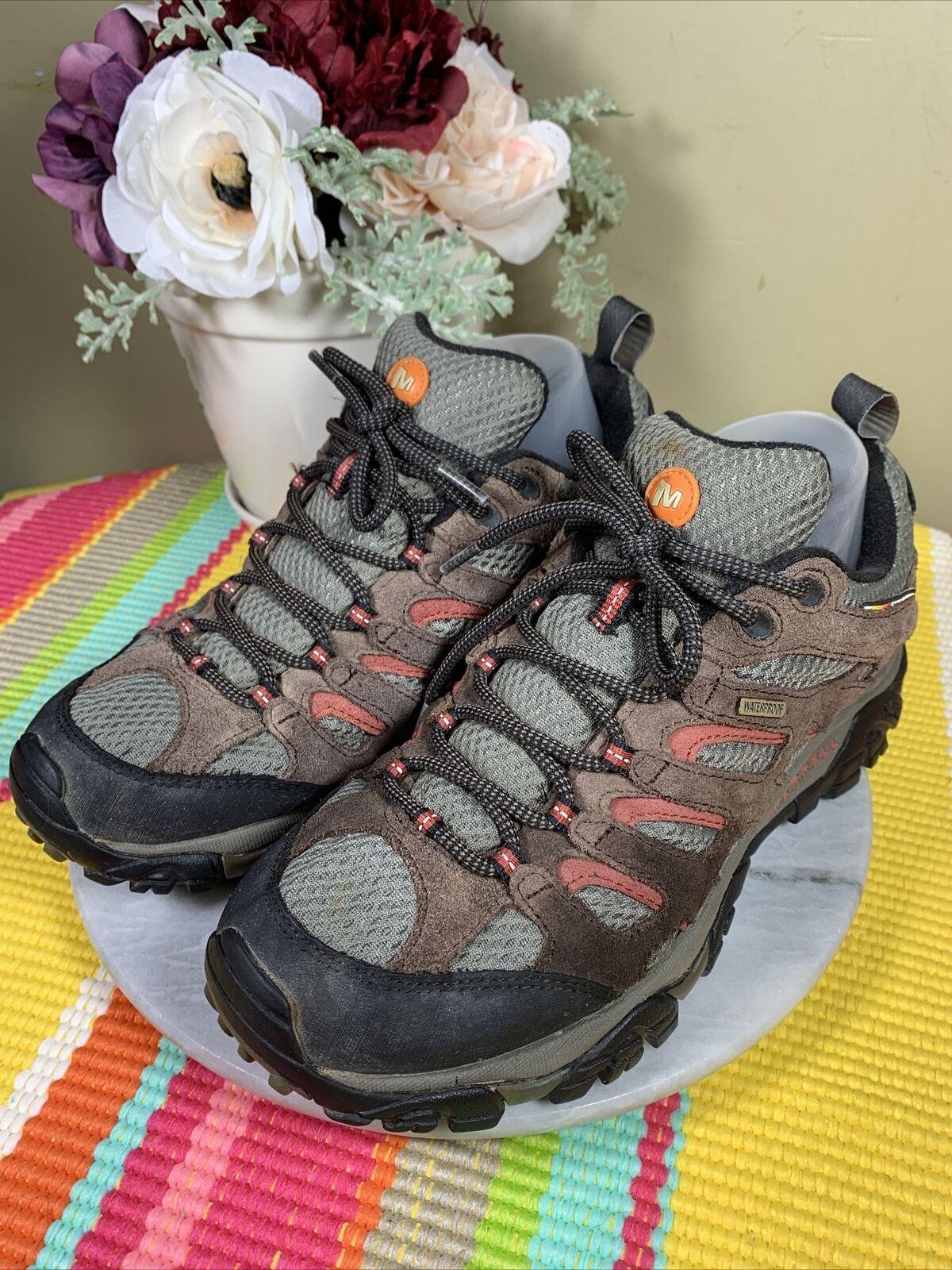 Merrell Expresso Leather Continuum Hiking Vibram Lace Shoes Men's EU 42 US 8.5 M