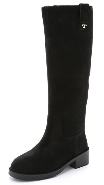 e3c26cdd467 Tory Burch Wayland Black Suede Shearling Tall Boot 7 for sale online ...