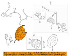 SUBARU OEM 10-14 Legacy Rear Brake-Backing Plate Splash Dust Shield 26704AJ010