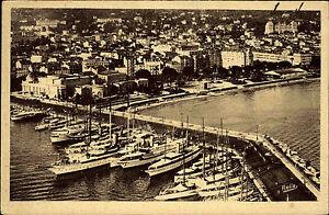 Cannes-Frankreich-France-Cote-d-Azur-1943-Luftbild-Fliegeraufnahme-Hafen-Schiffe