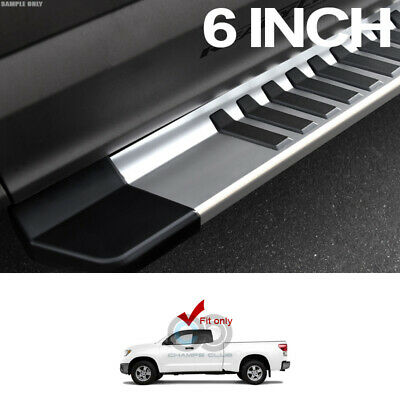 "6/"" For 07-18 Toyota Tundra CrewMax Cab Aluminum Running Boards Side Step Silver"