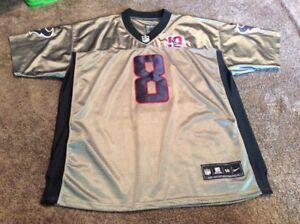 56 Schaub Nike On Field Houston Texans Grey & Black Jersey Men's ...