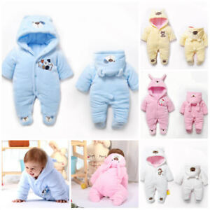 02681fb8377 Image is loading Baby-clothes-newborn-infant-girls-boys-winter-fleece-