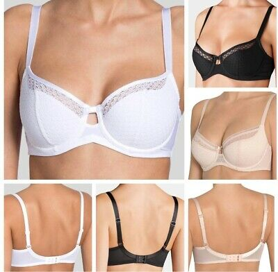 Clearance Bra Supafits Underwired Non Padded Black Bra With Wider Strap