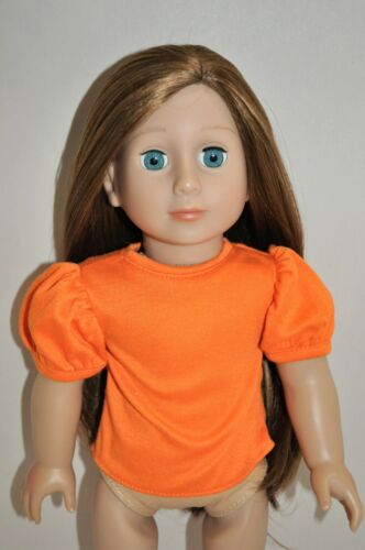 Doll Clothes I8 Inch American Girl Dolls Our Generation Orange Puffy Sleeve Top