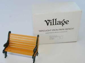 "Department 56 /""Wrought Iron Park Bench/"" Village Accessories 5230-2"