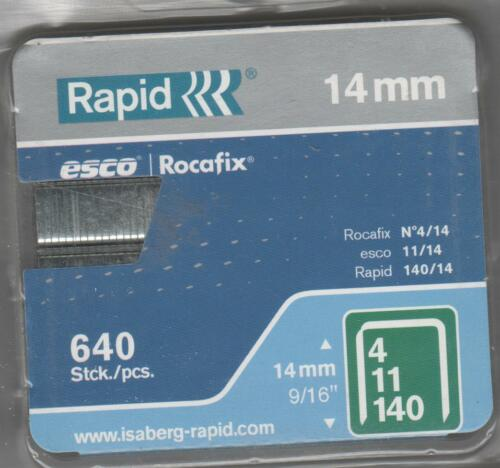 Rapid agrafes 1,3//10,6//14 mm 640 Pièces Type 140