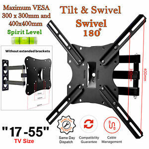 Tilt-Swivel-TV-Wall-Mount-Bracket-3D-LED-LCD-Plasma-For-17-22-30-40-50-55-Inch