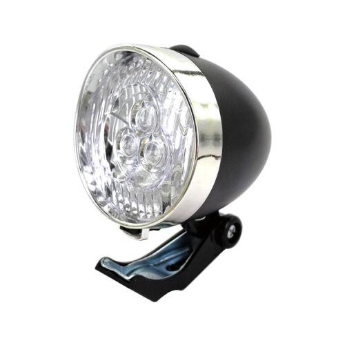 Bicycle 3 LED Front Light Flashlight Lamp Vintage Retro New Bike Headlight