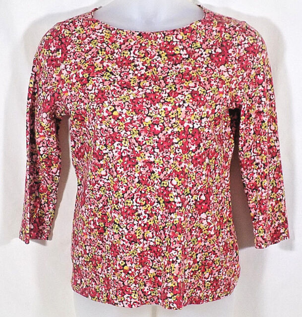 Talbots Large Top Boat Neck Knit 3/4 Sleeves