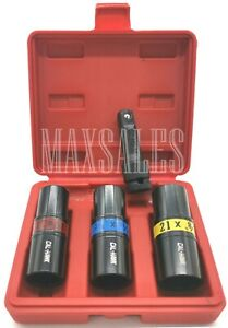 """4 pc 1//2/"""" Dr Flip Lug Nut Impact Socket Back and Front Metric//SAE Thin Wall tool"""