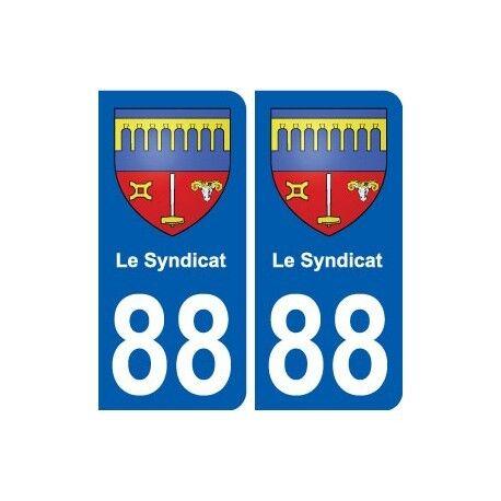 88 Le Syndicat blason autocollant plaque stickers ville arrondis