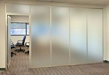 Cgp Office Partitions Frosted Glass Aluminum Wall 11x9 Withdoor Clear Anodized
