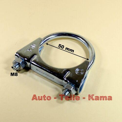 Bügelschelle Auspuffschelle für Abgasanlage Montageschelle Clamp M8 Ø 50 mm