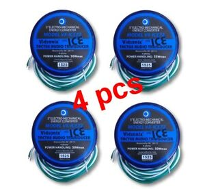 4x-Pack-Sonic-ICE-3-034-Audio-Tactile-Transducer-Plate-Reverb-Hidden-4-ohm-Puck