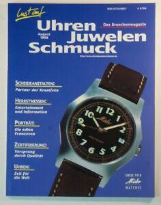 Branchenmagazin Lust Auf Uhren Juwelen Schmuck August 1998 - B4809