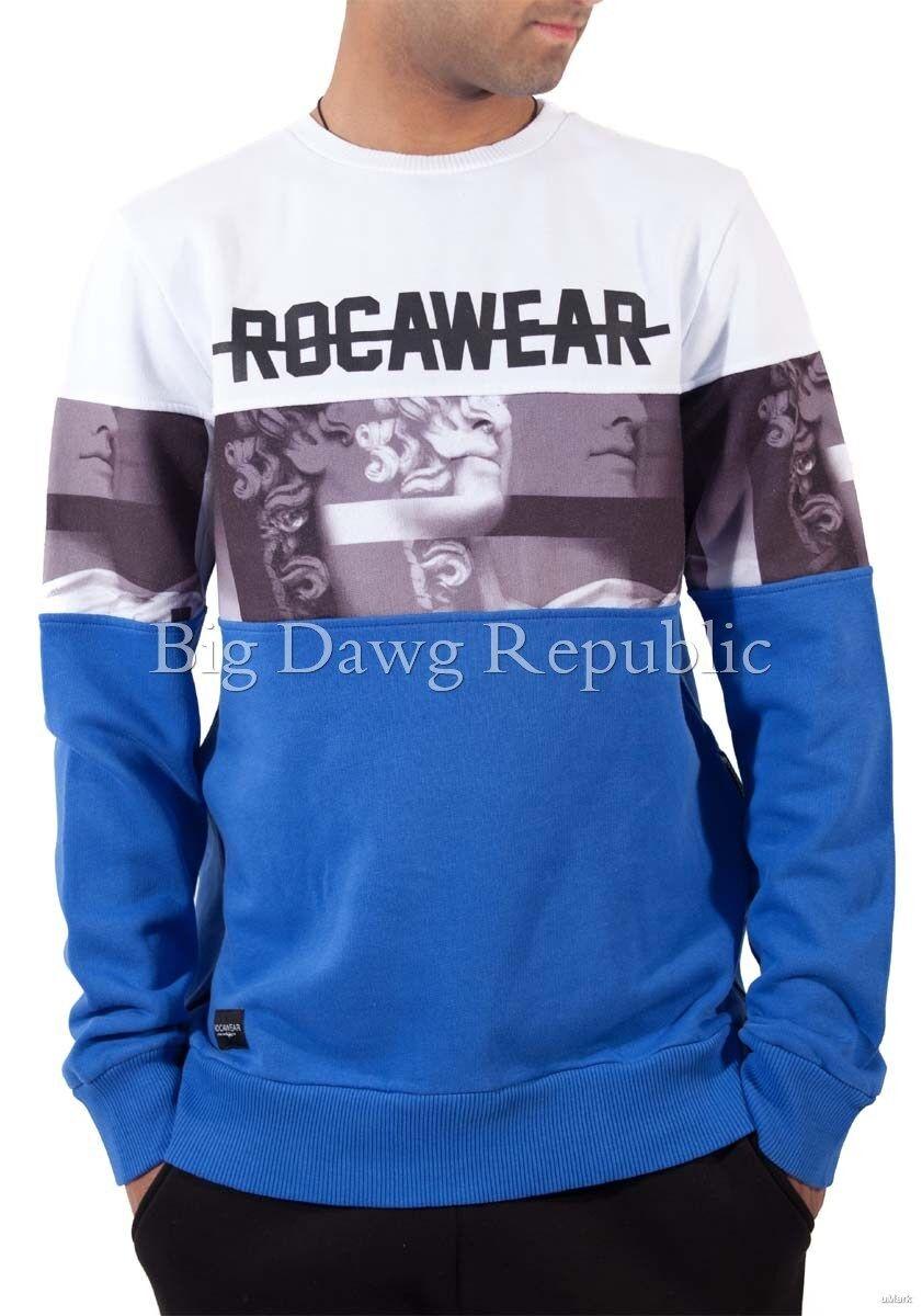 Rocawear Da Uomo Designer Maglione, Felpa, Pullover, Hip Hop, tempo è denaro, R68