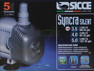 Sicce Syncra Silent Multifunction Pump 3.5 2,500l/h Pumps (water) Wet Or Dry Applications Delicacies Loved By All Pet Supplies