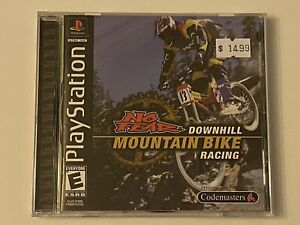DOWNHILL-MOUNTAIN-BIKE-RACING-PS1-PlayStation-1-PSX-GAME-COMPLETE-MINT