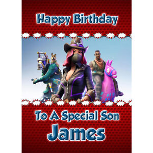 Personalised Birthday Card Son Grandson Brother Boy Children Fireman Sam