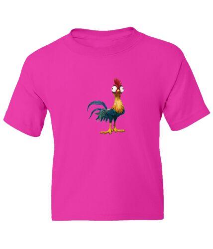 Disney Moana Heihei Kid Girl Boy Youth Unisex Crew Neck Short Sleeve Top T-Shirt