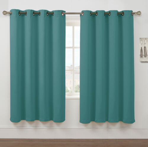 Kate Aurora Hotel Collection 100/% Blackout Thermal Insulated Window Curtains