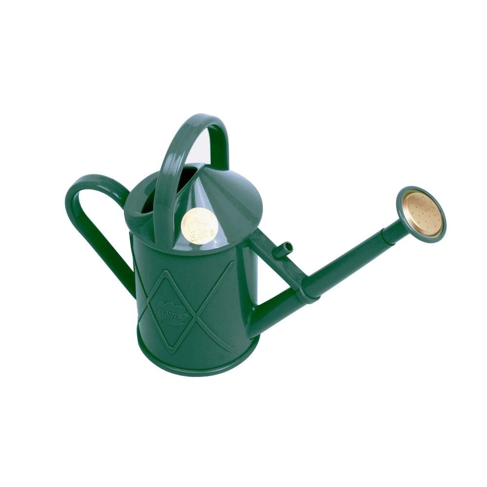 Plastic Watering Can Green Indoor High Gloss Dome Lid Trellis Surface 0.25 Gal