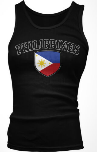 Filipino Filipina Pride  Boy Beater Tank Top Philippines Country Crest Flag