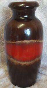West-Germany-Retro-Mid-Century-Vase-Scheurich-keramik-291-38-fat-lava