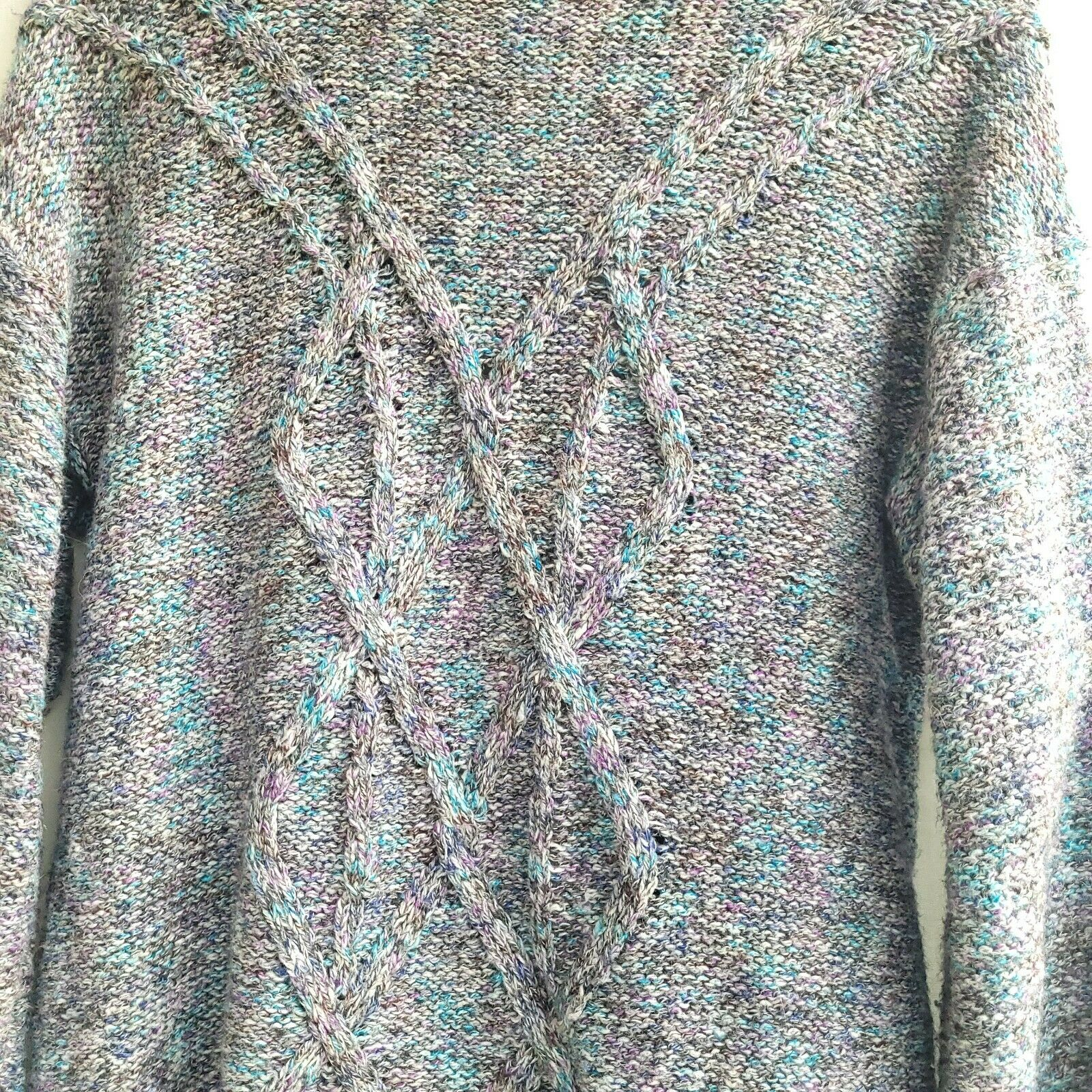 Chico's Chunky Knit Textured Sweater Open Front S… - image 3