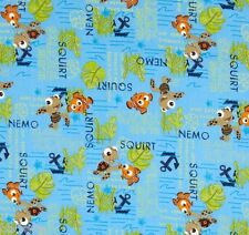 NEW 15 X 15 DISNEY FINDING NEMO AND SQUIRT TURTLE COMPLETE COTTON THROW PILLOW