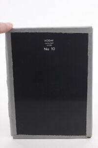 """Kodak #10 Deep Amber 5x7"""" for Photo Darkroom Process - Glass - USED F28D"""