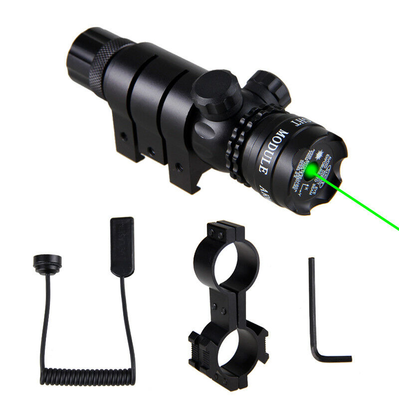 Tactical Hunting 6-24X50mm Riflescope Red Green Dot Laser Sight+Dual Ring Mount