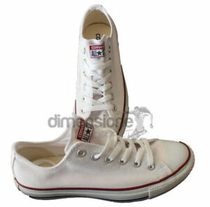CONVERSE-ALL-STAR-BASSE-BIANCHE-TG-44-M7652-SCARPE-UNISEX-CANVAS-SHOES-US-10