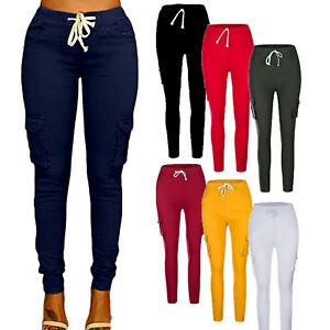 Women-Full-Length-Leggings-Pencil-Pants-High-Waist-Trousers-Stretchy-Skinny-Jean
