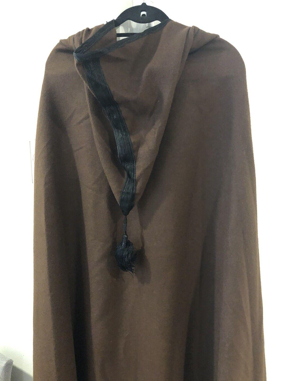 Handmade Moroccan wool cloak Brown Cloak With Hoo… - image 5