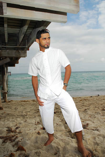 ZAIR Organic Cotton Legs Drawstring Resort Cargo Mens Capri Pants