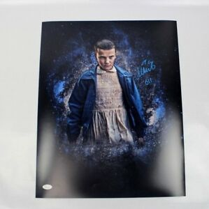 Millie-Bobby-Brown-SIGNED-STRANGER-THINGS-Eleven-16x20-Photo-JSA-AUTOGRAPH-Z1