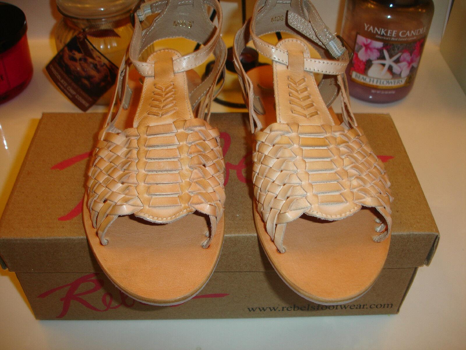 Rebels Nadia2 Natural Tan Leather Sandal Sandal Sandal Comfort  85 6.5 7 7.5 8 8.5 9 10 Nice 7d1152