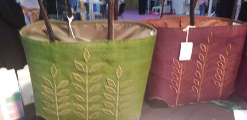 Coconut Leather And Trim Corners Handles With Fibre Handbags Beautiful 4dxwRfZqZ