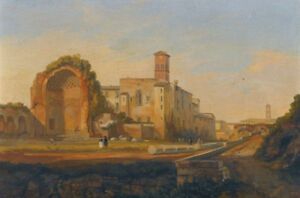 """oil painting """"Rome, a View of the Forum with the Temple of ..."""