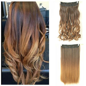 Hot fashion clip in on ombre hair extensions straight curly wavy image is loading hot fashion clip in on ombre hair extensions pmusecretfo Choice Image