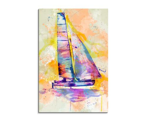 90x60cm PAUL SINUS Splash Art Gemälde Kunstbild Katamaran/_II Mehrfarbig