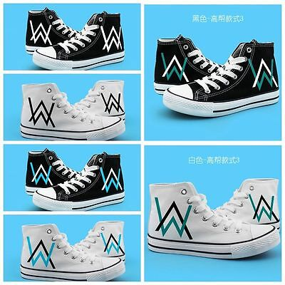 NEW! Alan Walker cosplay high canvas shoes