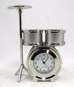 sanis drum set silver desk clock quot new in box quot executive