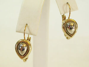 Image Is Loading Liz Claiborne Lci Silver And Gold Plate Teardrop