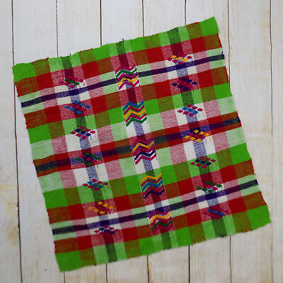 Handmade Mexican Cotton Coffee Table Cover Mat Small Runner