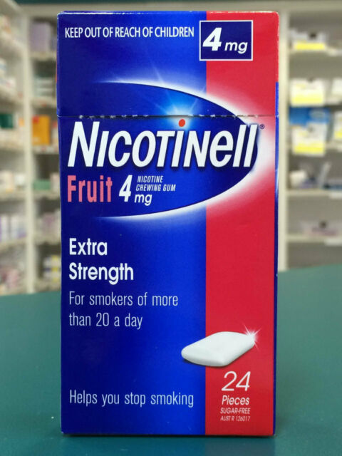 Nicotinell Gum 4mg Fruit - 24 Pack