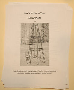 Pvc Christmas Tree Plans.Details About Plans Pvc Holiday Christmas Tree 5 X 10 Outdoor