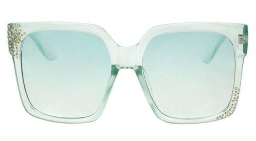 Oversized Sunglasses Women Square Plastic Clear Bling Gradient Lens Gafas Shade